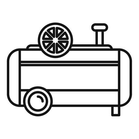 Paint air compressor icon, outline style