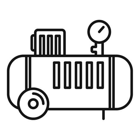 Pump air compressor icon, outline style