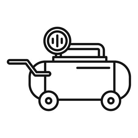Tool air compressor icon, outline style 向量圖像