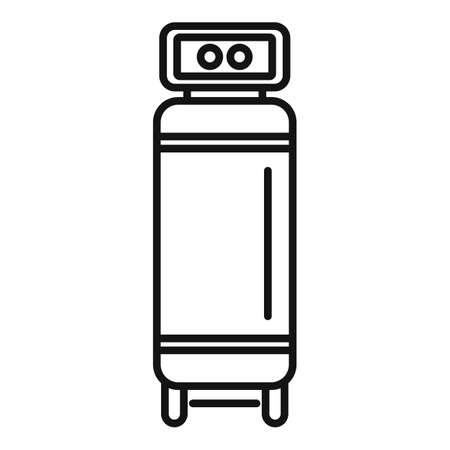 Motor air compressor icon, outline style
