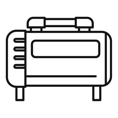 Generator air compressor icon, outline style