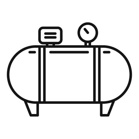 Instrument air compressor icon, outline style 向量圖像