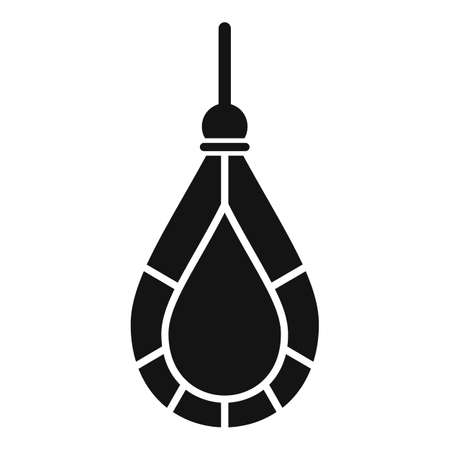 Gem earring icon, simple style Vektorgrafik