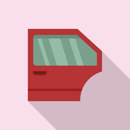 Car door repair icon, flat style