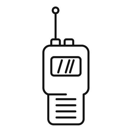 Modern walkie talkie icon, outline style