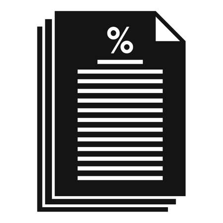Tax papers icon, simple style