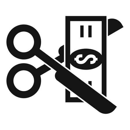 Cut money tax icon, simple style Vektorgrafik
