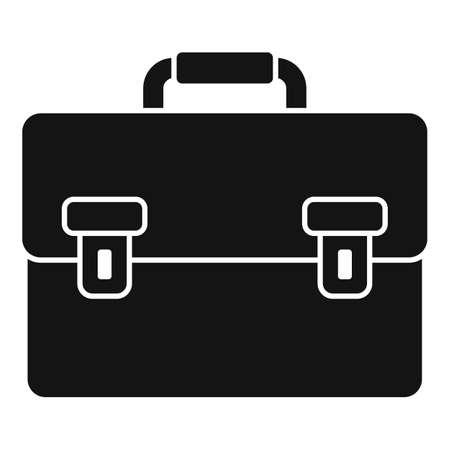 Tax inspector briefcase icon, simple style