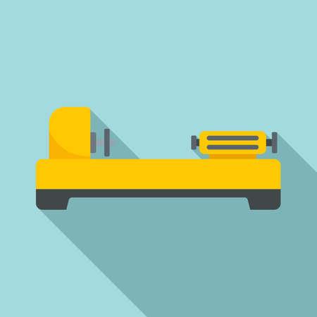Factory lathe icon, flat style Ilustrace