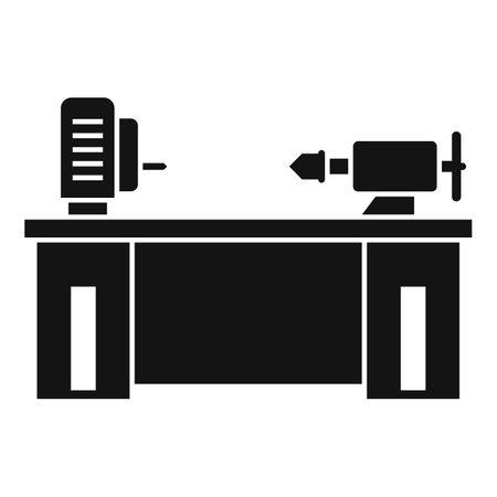 Lathe machine icon, simple style Ilustrace