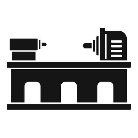 Industry lathe icon, simple style