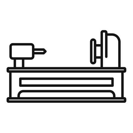 Electric lathe icon, outline style