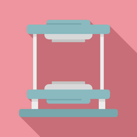 Tire fitting equipment icon, flat style Ilustrace