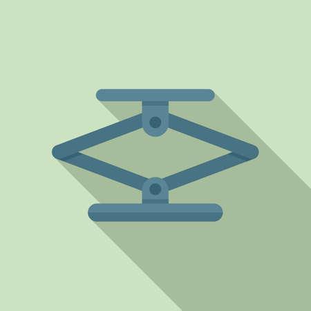 Jack screw icon, flat style Ilustrace