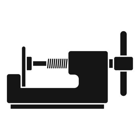 Tire fitting device icon, simple style
