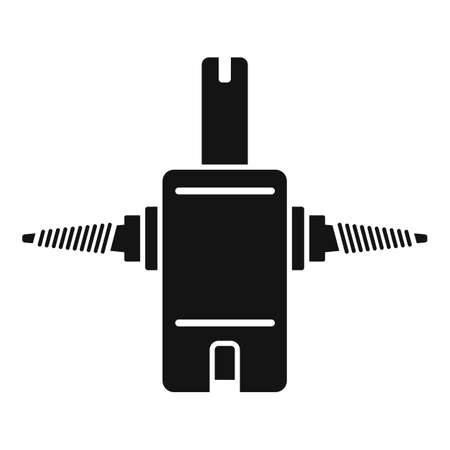 Tire fitting stand icon, simple style