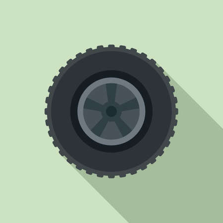Repaired tire icon, flat style Ilustrace