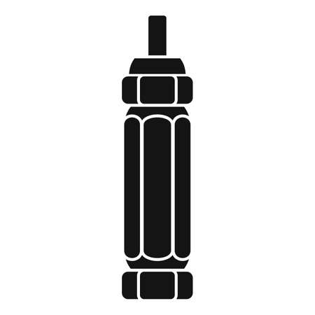 Tire fitting screwdriver icon, simple style Ilustrace