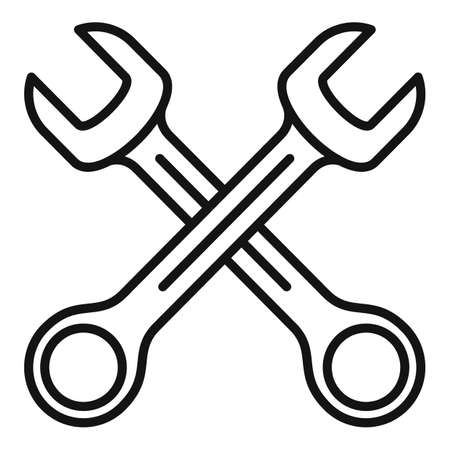Tire fitting keys icon, outline style