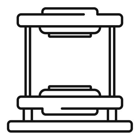 Tire fitting equipment icon, outline style Ilustrace