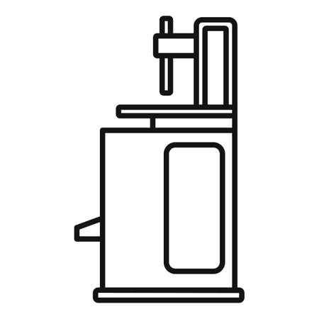 Tire fitting machine icon, outline style