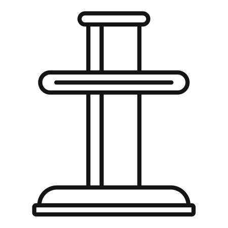 Tire fitting element icon, outline style