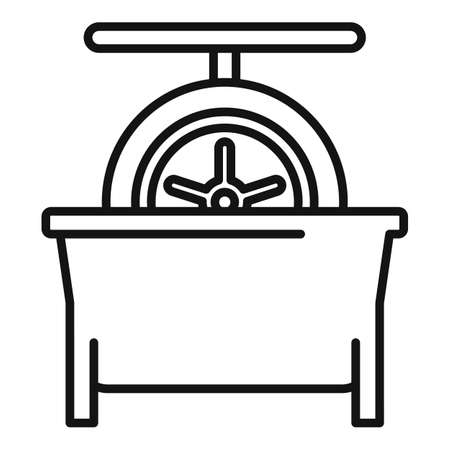 Tire fitting calibration icon, outline style Ilustrace