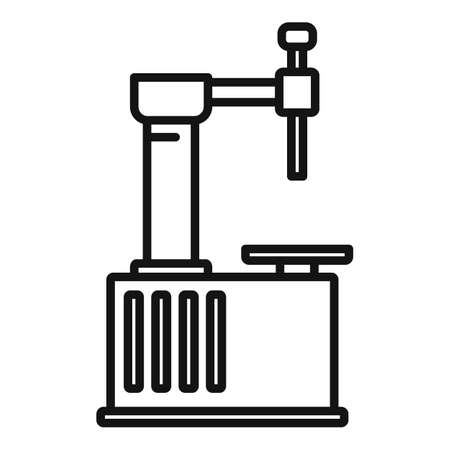 Tire repair device icon, outline style