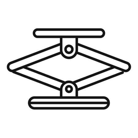 Jack screw icon, outline style