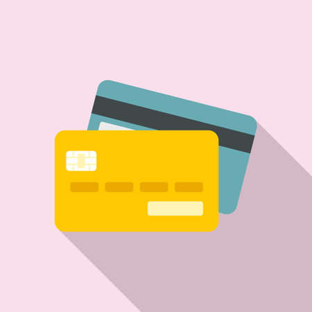 Credit cards icon, flat style