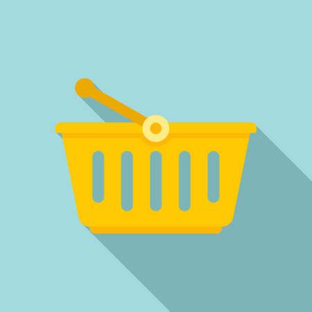 Shop basket icon, flat style