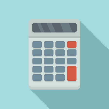 Manager calculator icon, flat style