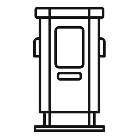 Charge station icon, outline style