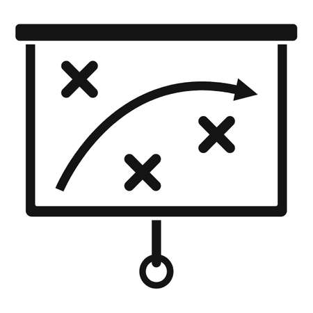 Crisis strategy icon, simple style