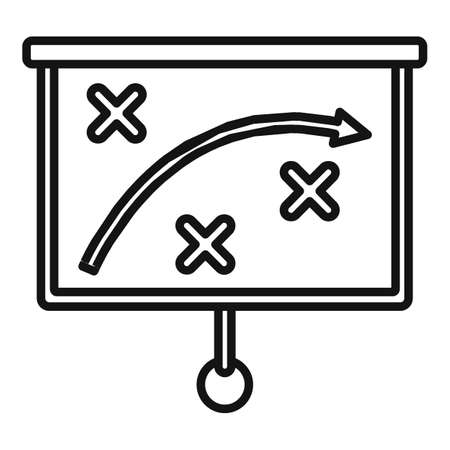 Crisis strategy icon, outline style