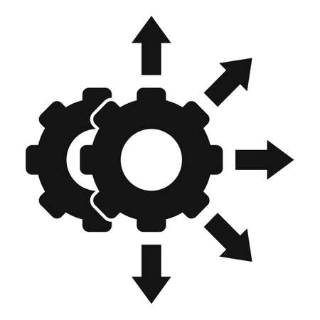 Project restructuring icon, simple style