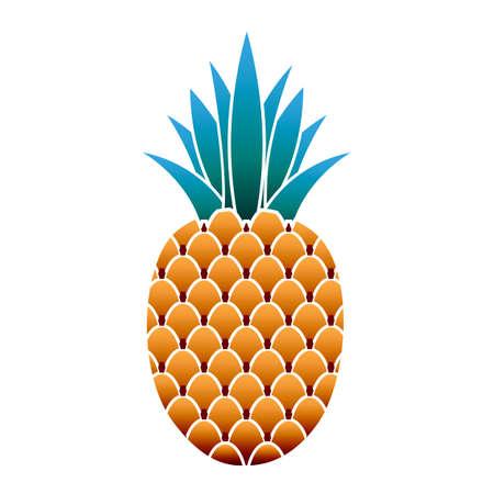 Dessert pineapple icon, cartoon style