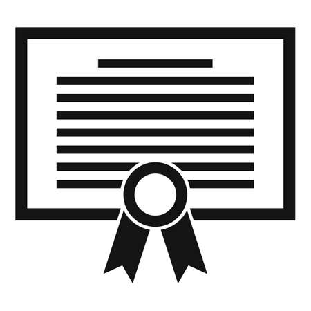 Broker diploma icon, simple style