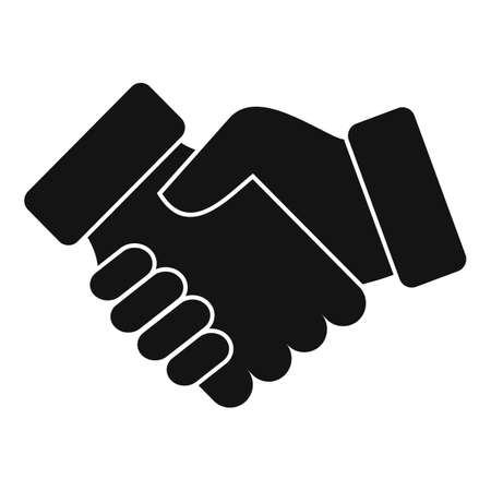 Credit handshake icon, simple style