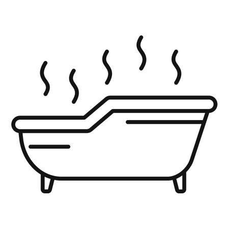Hot icon, outline style