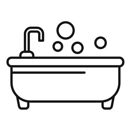 Aromatic icon, outline style