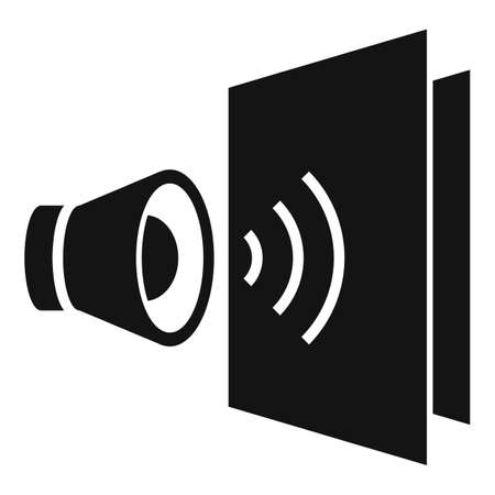 Sound absorption icon, simple style