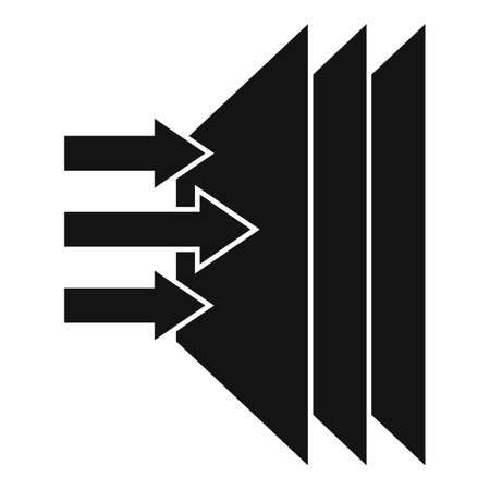 Soundproofing layer icon, simple style Vecteurs
