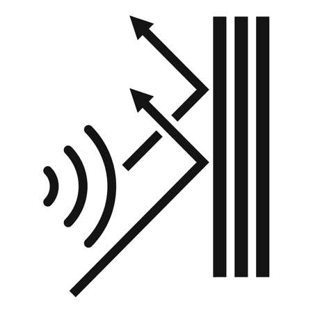 Soundproof reflect wall icon, simple style