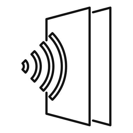Sound absorbent icon, outline style