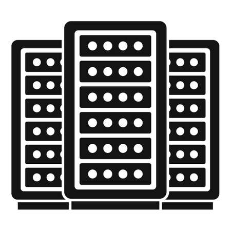 Server remote control icon, simple style