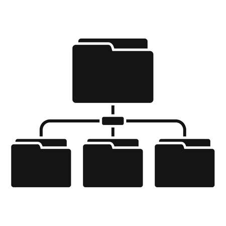 Folder network icon, simple style Çizim