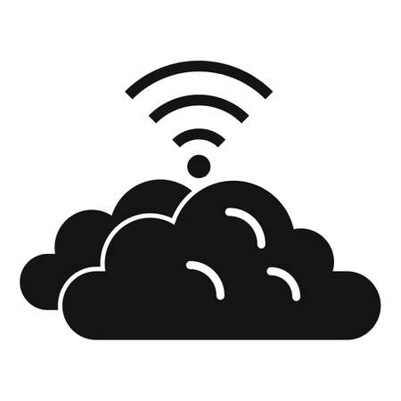 Remote control data cloud icon, simple style