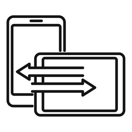 Tablet remote control icon, outline style Stok Fotoğraf - 166877619