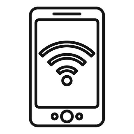 Wifi remote control icon, outline style